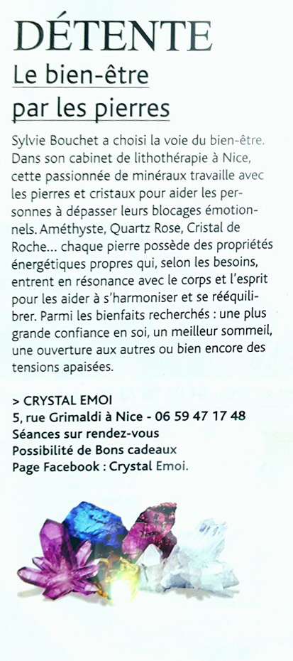 article crystal emoi fémina